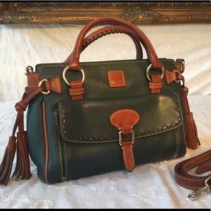 Dooney Bourke green pebbled hand & shoulder bag
